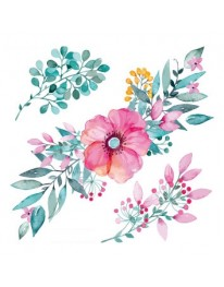 Flower Watercolor Temporary Tattoo