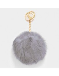 Pom-Pom Key Chain // Grey