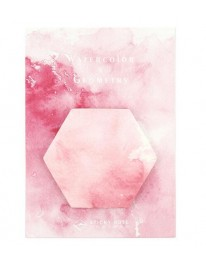 Watercolor Hexagon Sticky Notes