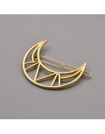 Aztec Moon Hair Pin// Gold