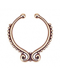 Rose Gold Swirl Septum Ring