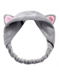 Cat Makeup Headband// Grey