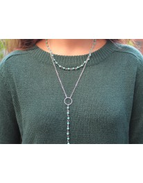 Turquoise Rosary Long Necklace