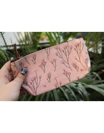 Floral Pouch// Pink