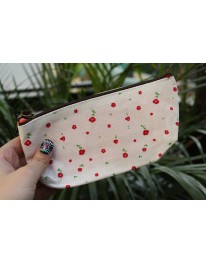 Floral Pouch// Baby Pink