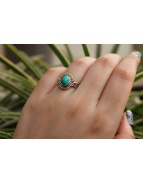 Comet Sterling Silver Ring// Turquoise