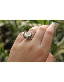 Boho Moon Ring (German Silver)