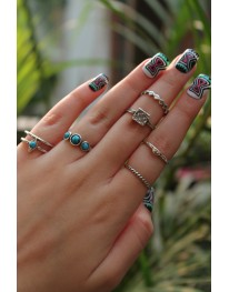 Aztec Ring Set