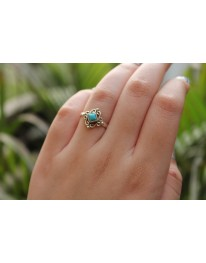 Stellar Sterling Silver Ring // Turquoise