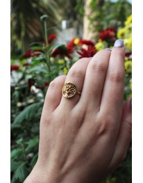 Tree Of Life Ring// Gold