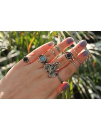 Boho Gypsy Ring Set
