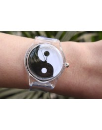 Yin- Yang Clear Watch