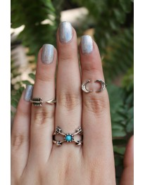 Boho Arrow Ring Set