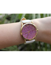 Glitter Watch// White