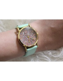 Glitter Watch // Mint