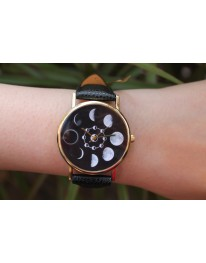 Phases Of The Moon Watch// Black
