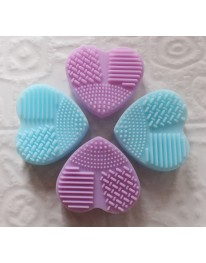 Heart Makeup Brush Cleaner// Blue