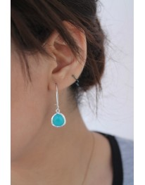 Aqua Glass Drop Earring