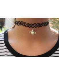 Saturn Tattoo Choker
