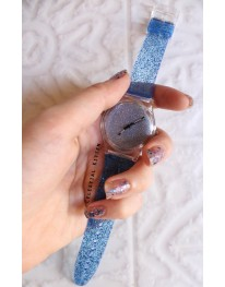 Glitter Watch // Blue