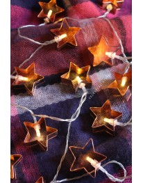 Star Cookie Cutter Copper String Lights