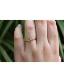 Moon Sparkle Ring// Gold