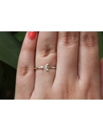 Moon Sparkle Ring// Silver