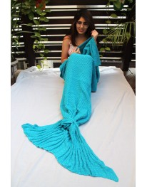 Mermaid Tail Blanket// Aqua