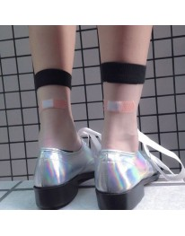 Sheer Bandaid Socks