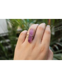Amethyst Crystal (Resin) Ring