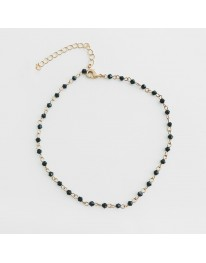 Black Opal Rosary Necklace