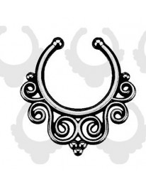 Spiral Septum Ring// Black