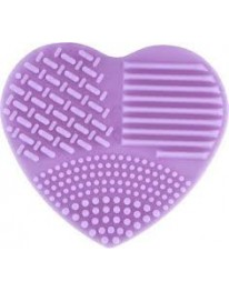 Heart Makeup Brush Cleaner// Purple