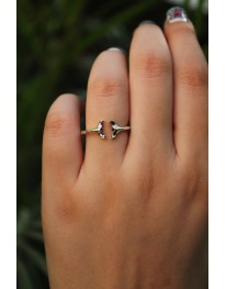Whale Tail Ring// Midi Ring